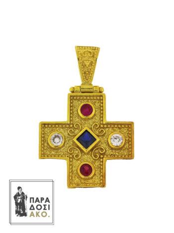 Ασημένιο 925 Μενταγιόν Σταυρός Βυζαντινός 22mm
