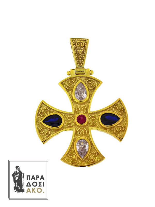 Βυζαντινός Σταυρός, μενταγιόν ασημένιο 925 διάστασης 30mm