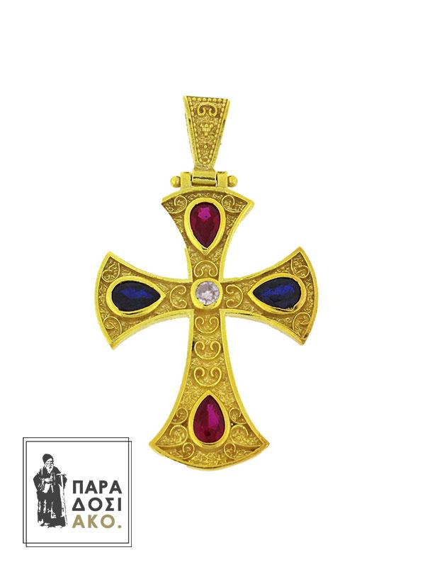 Σταυρός Βυζαντινός ασημένιος 30Χ35mm